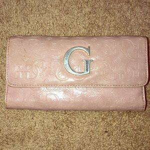 Guess Pink wallet with checkbook holder!